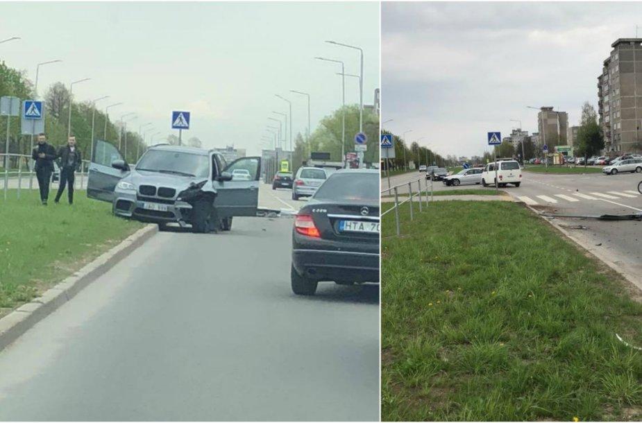 Avarija Kauno Šiaurės prospekte
