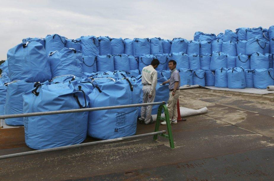Pareigūnai tikrina sugomų atliekų radiacijos lygį