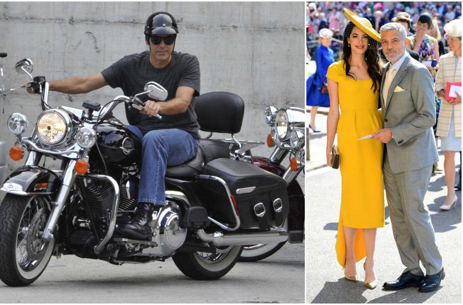 Po avarijos Italijoje George'ui Clooney žmona uždraudė vairuoti motociklą