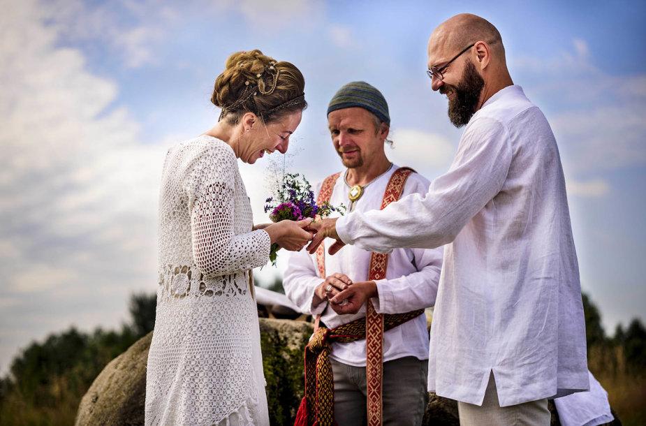 Petro Lisausko ir Rūtos Bartkevičiūtės vestuvių akimirka