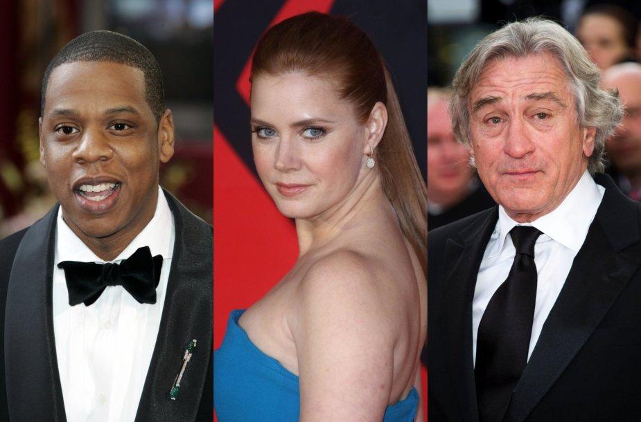 Jay-Z, Amy Adams, Robertas De Niro
