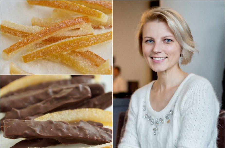 Dangira Šimašiutė ir jos gamuntos cukruotos apelsinų žievelės