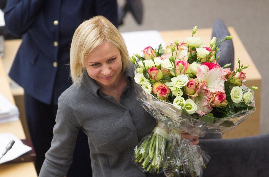 Seimo kanclere penkerių metų kadencijai paskirta D.Raudonienė