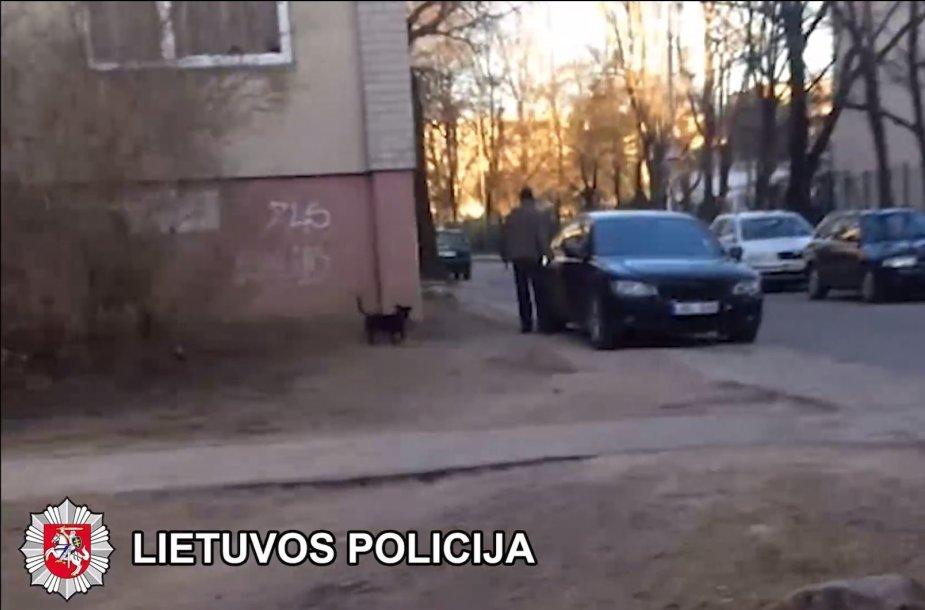 Vyras sučiuptas nusikaltimo vietoje
