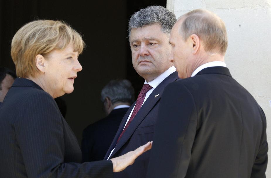 Angela Merke, Petro Porošenka, Vladimiras Putinas