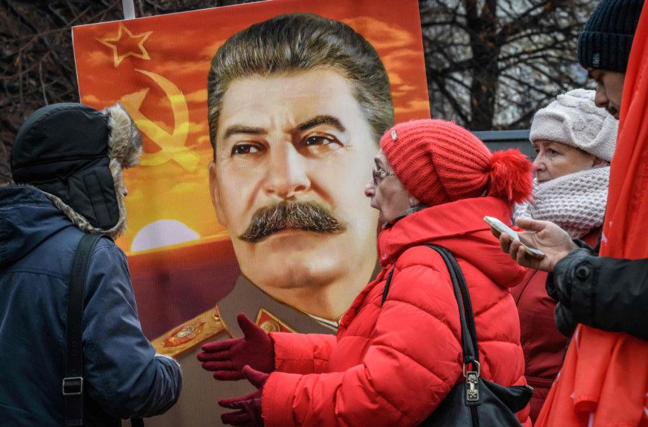 Josifo Stalino gerbėjai Rusijoje