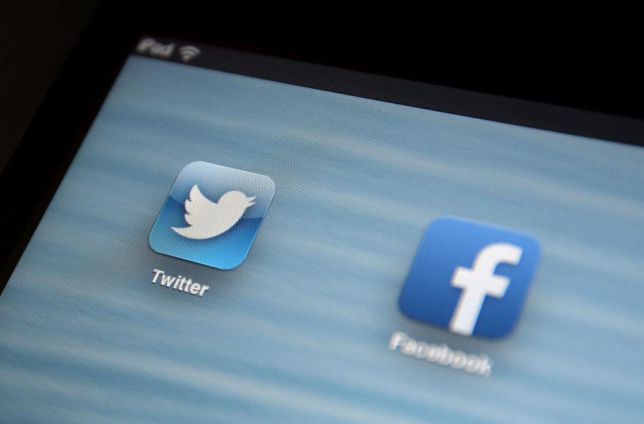 """Tinklai """"Twitter"""" ir """"Facebook"""""""