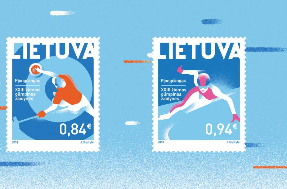 Pjongčango olimpinių žaidynių proga pasirodys du nauji pašto ženklai