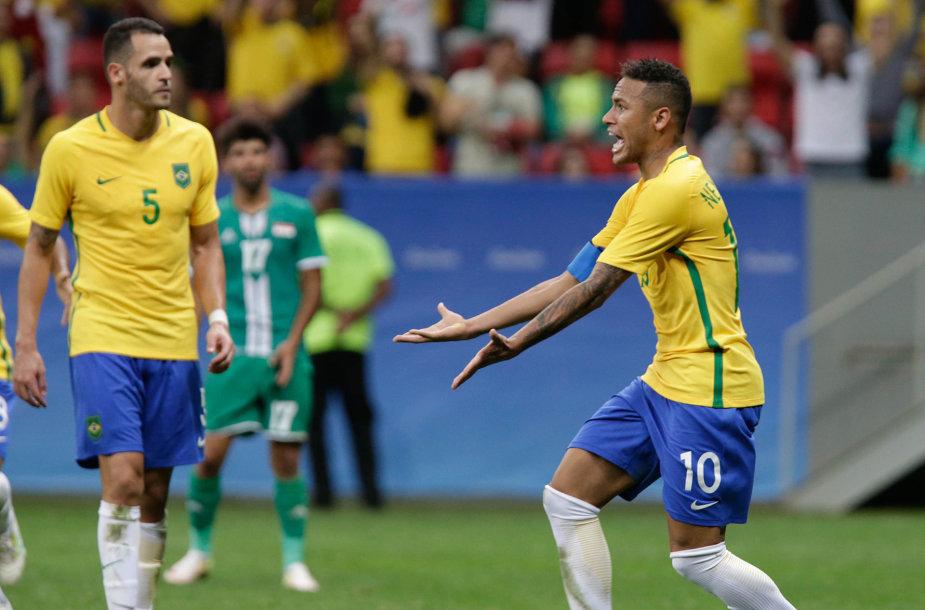 Brazilijos rinktinė olimpiadoje dar nėra įmušusi nė vieno įvarčio