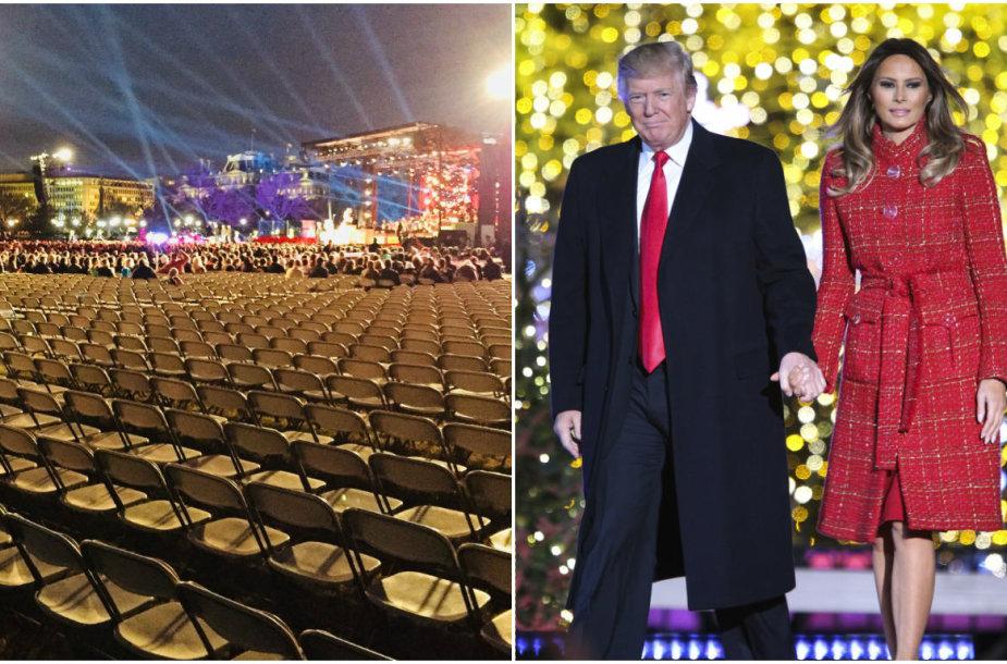 Eglės įžiebimo šventėje Vašingtone – šimtai tuščių kėdžių