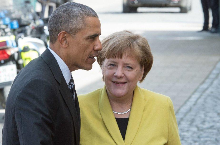 Barackas Obama ir Angela Merkel