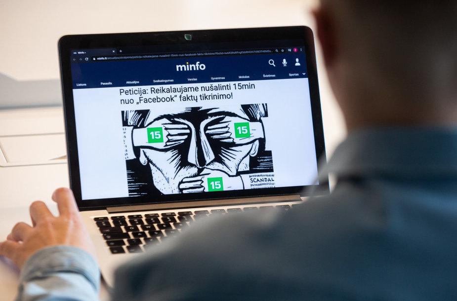 Minfo.lt reklamai feisbuke išleido kelis tūkstančius eurų