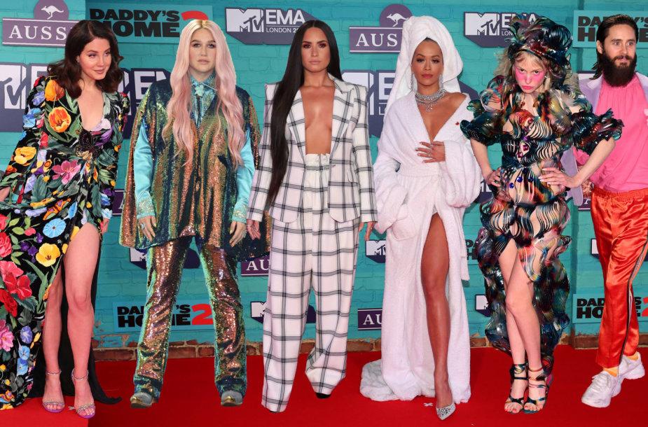 MTV Europos muzikos apdovanojimų svečiai: Lana Del Rey, Kesha, Demi Lovato, Rita Ora, Petite Meller ir Jaredas Leto
