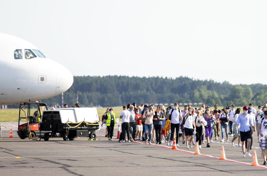 Palangoje nusileido lėktuvas iš Vilniaus