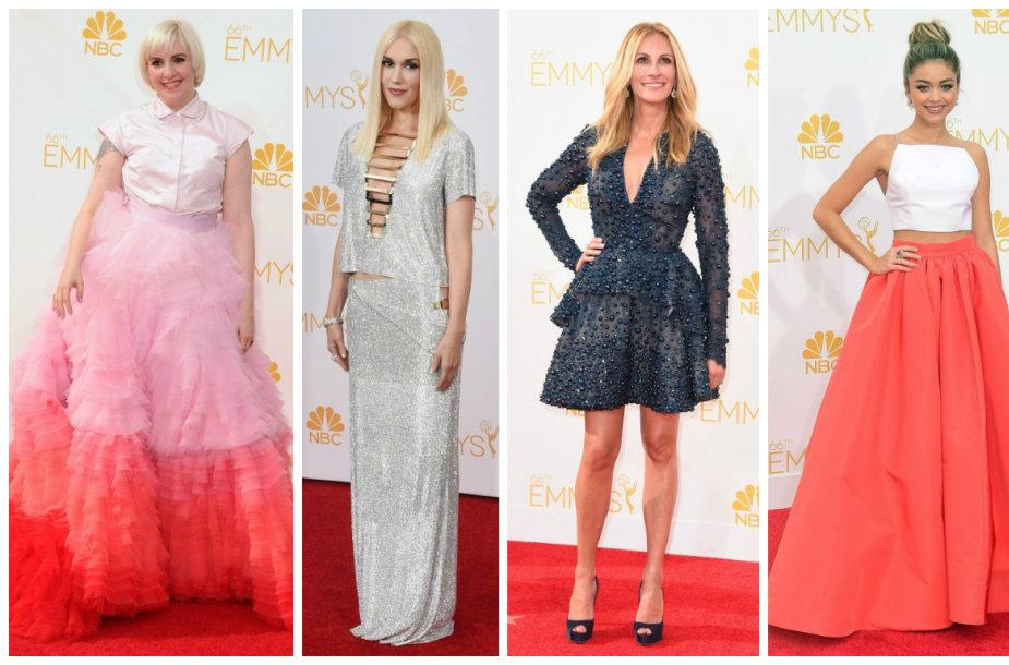 """Emmy"" apdovanojimų viešnios: Lena Dunham, Gwen Stefani, Julia Roberts, Sarah Hyland ir Kate Walsh"