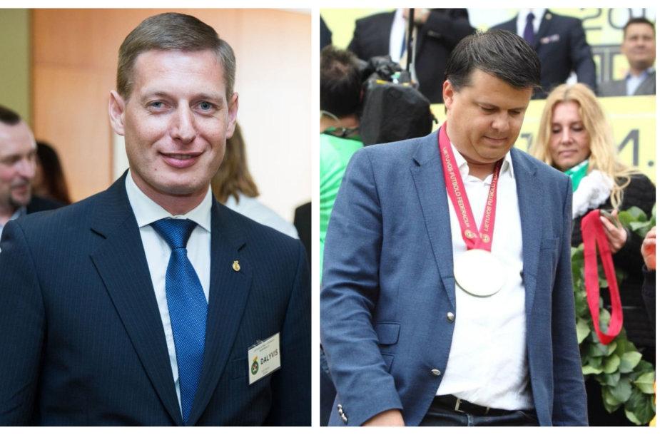 """Sergejus Slyva (kairėje) ateina į Vilniaus """"Žalgirį"""", bet jis perims tik dalį M.Nikoličiaus pareigų."""