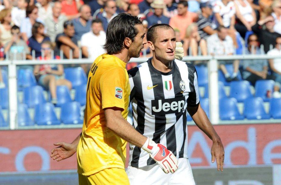 Gianluigi Buffonas ir Giorgio Chiellini