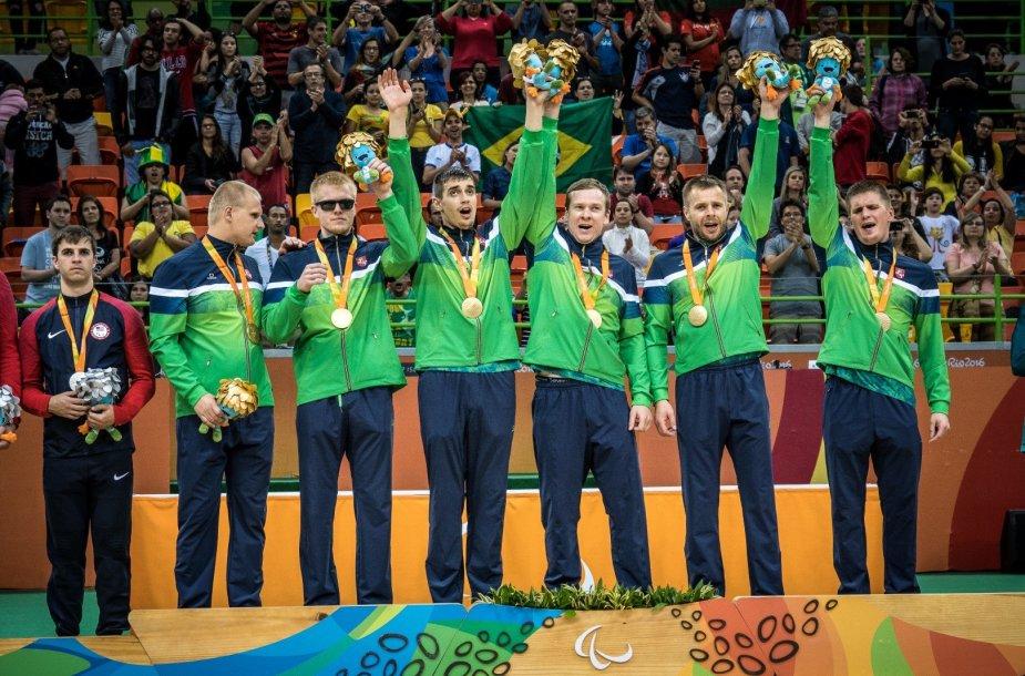 Lietuvos golbolo rinktinė 2016 metais iškovojo paralimpinių žaidynių auksą.