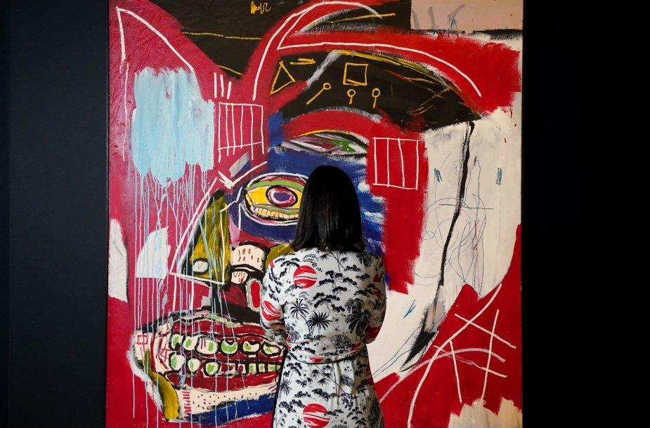 """Jeano-Michelio Basquiat paveikslas """"Šiuo atveju"""""""