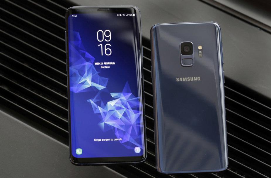 """""""Samsung Galaxy S9"""" serijos išmanieji telefonai"""
