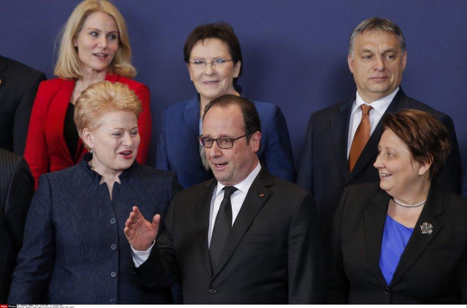 ES valstybių vadovai (D.Grybauskaitė, F,Hollande'as ir kiti) susitarė dėl sankcijų Rusijai galiojimo