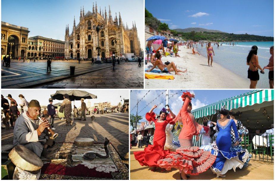 Ispanija, Italija ar Marokas – kur vyksite šį rudenį?