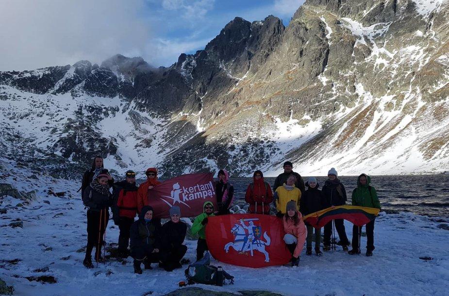 Lietuvių keliautojai Slovakijos Tatrų kalnuose