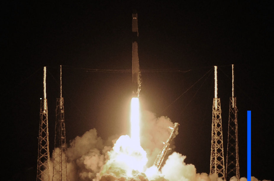 """""""SpaceX"""" pradeda 20-ąją misiją į kosmosą"""