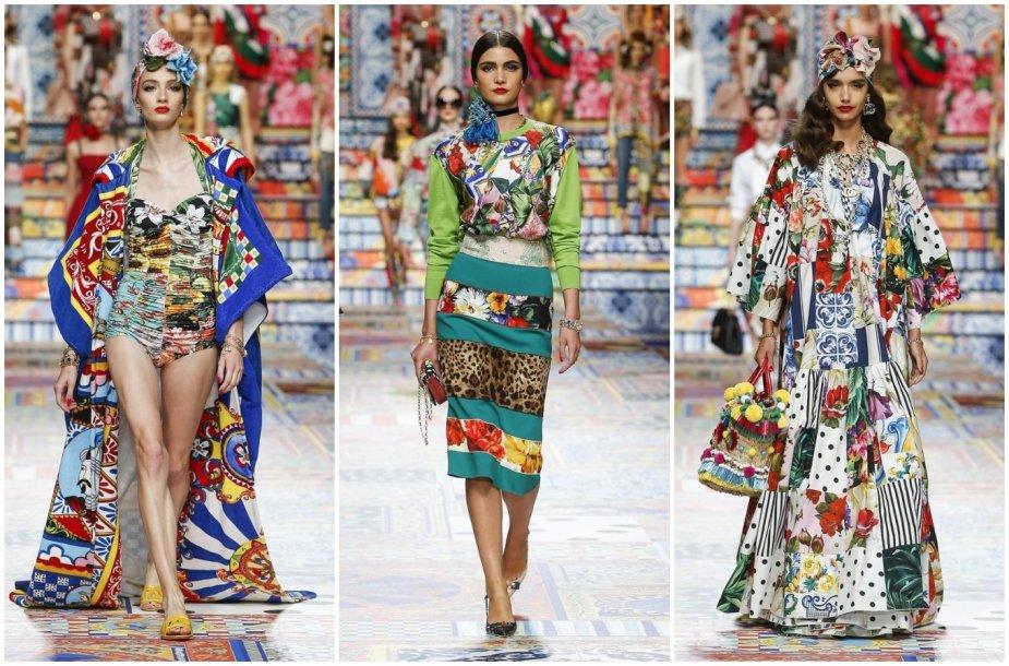 """""""Dolce & Gabbana"""" 2021 m. pavasario ir vasaros kolekcijos modeliai"""