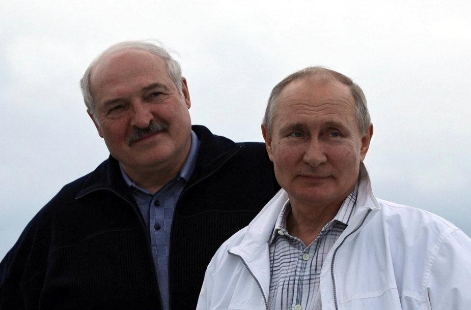 Vladimiro Putino ir Aliaksandro Lukašenkos susitikimas Sočyje