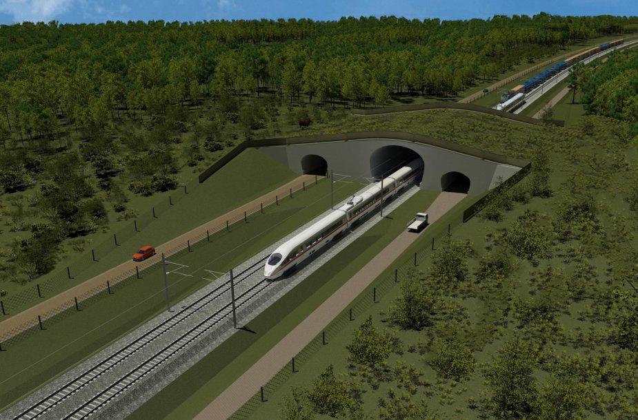 """""""Rail Baltica"""" geležinkelis bus dviejų kelių ir elektrifikuotas – tai užtikrins didelį kelionių greitį."""