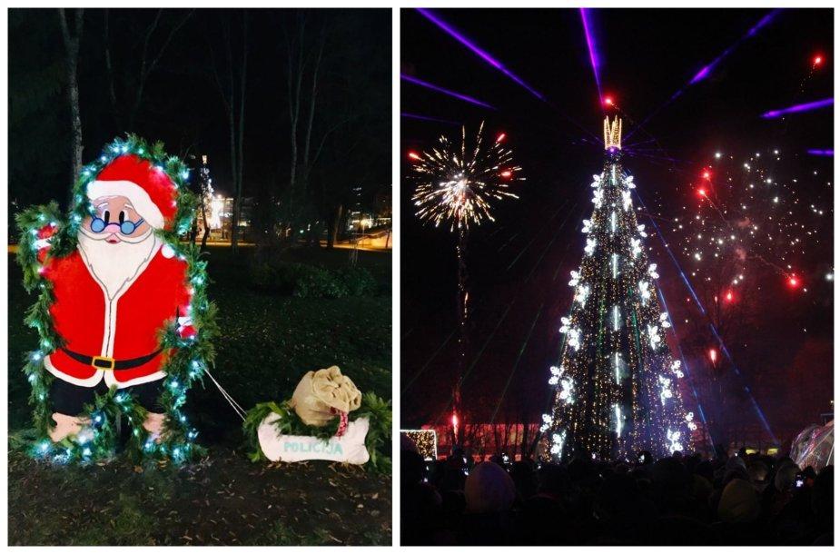 Kalėdiškai pasipuošę Druskininkai