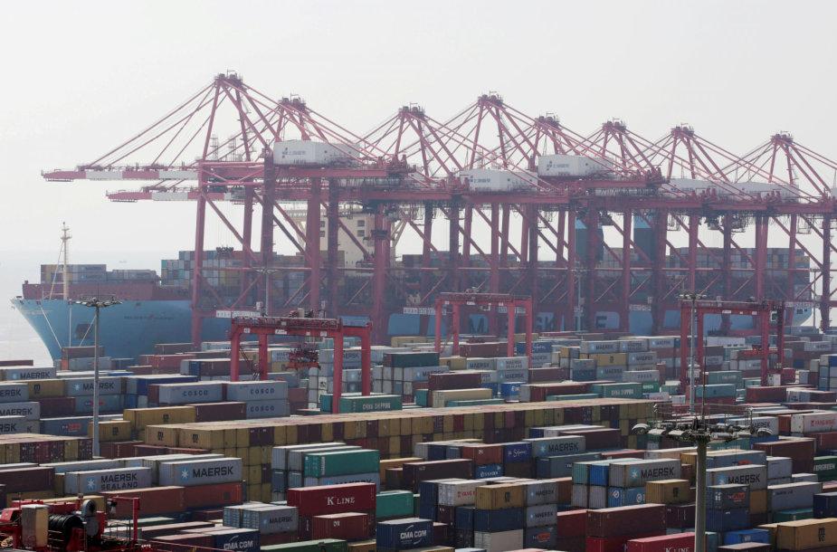 """Kompanijos """"Maersk"""" krovininis laivas"""