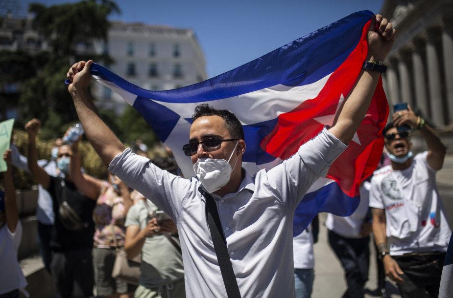 Protestai Kuboje