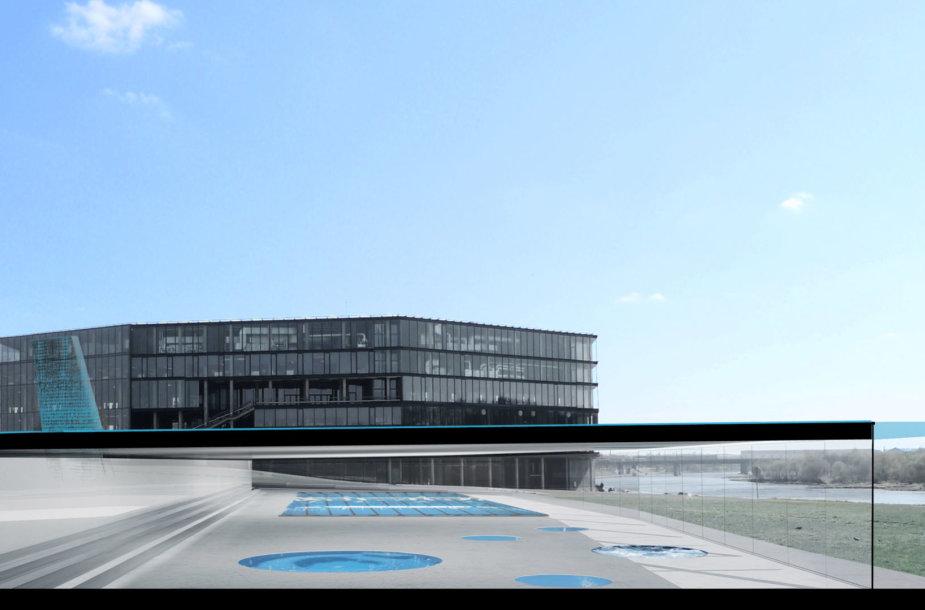 Kaune esančioje Nemuno saloje iškils daugiafunkcinis vandens sporto centras