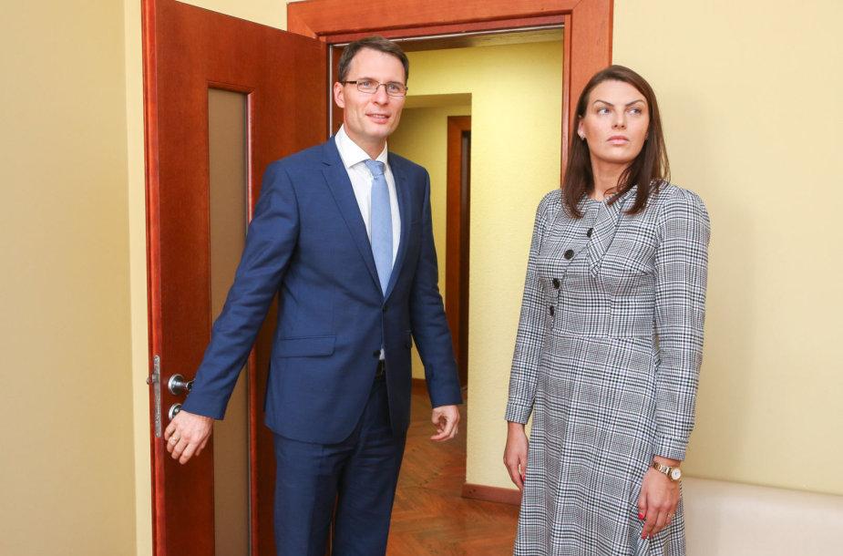Rasa Kazėnienė susitinka su teisingumo ministru Elvinu Jankevičiumi