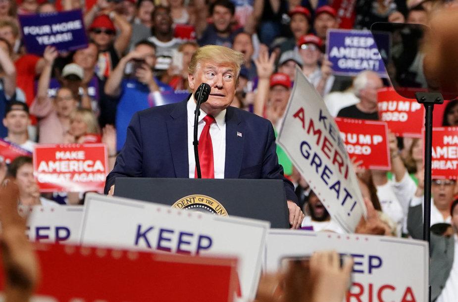 Donaldas Trumpas pradėjo perrinkimo kampaniją
