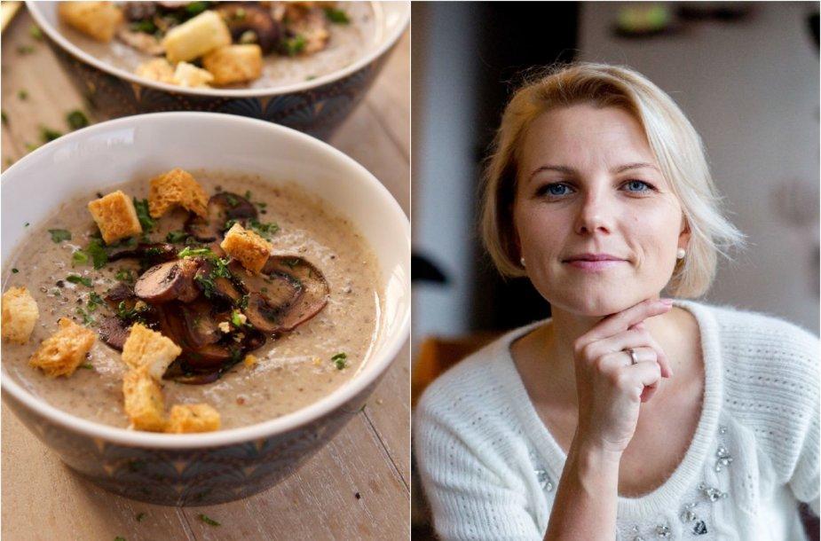 Dangira Šimašiutė ir jos virta kreminė grybų sriuba