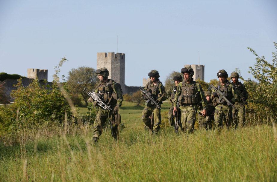 Švedijos kariai Gotlando saloje