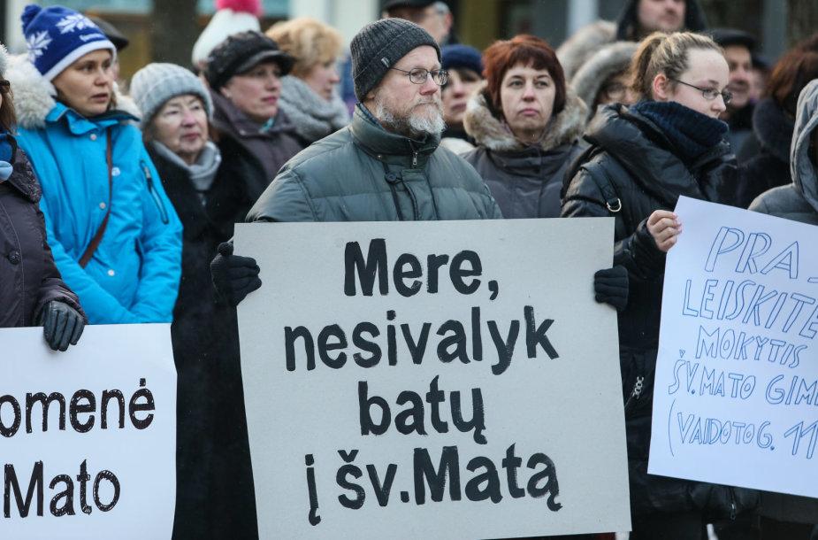 Piketas prie Kauno savivaldybės