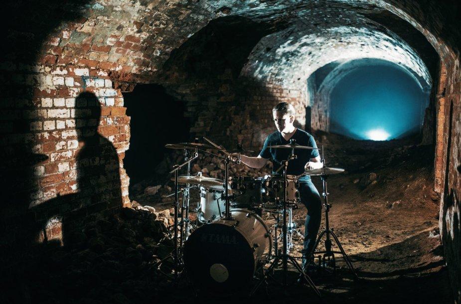 Kauno death metal grupės OSSASTORIUM vaizdo klipas buvo filmuojamas Kauno tvirtovės fortų tuneliuose