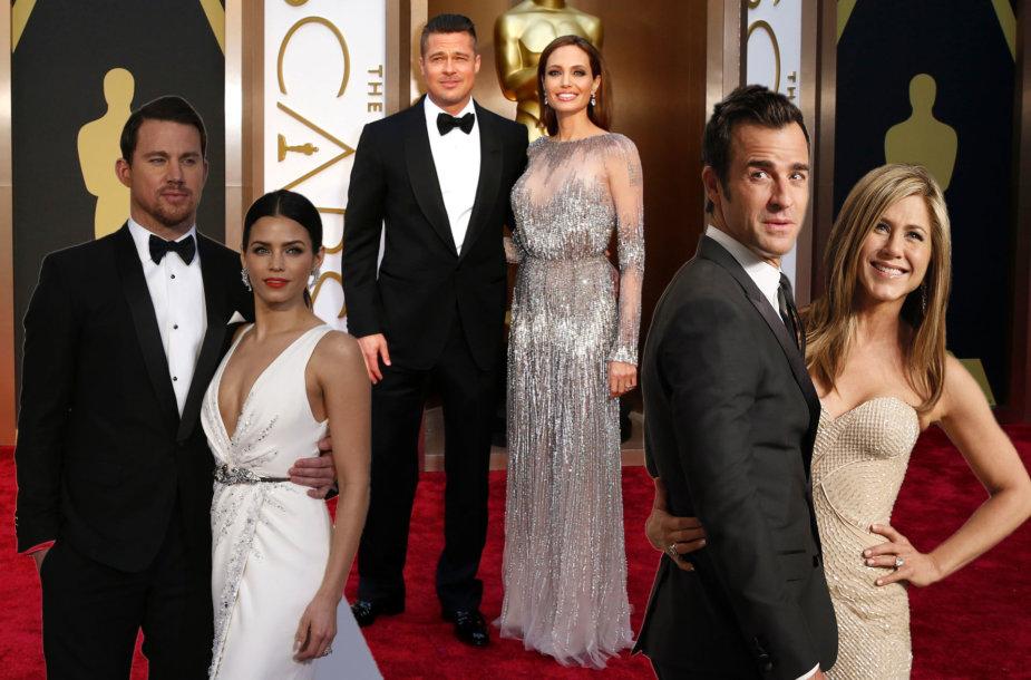 Angelina Jolie, Bradas Pittas, Channingas Tatumas, Jena Dewan, Jennifer Aniston, Justinas Therouxas