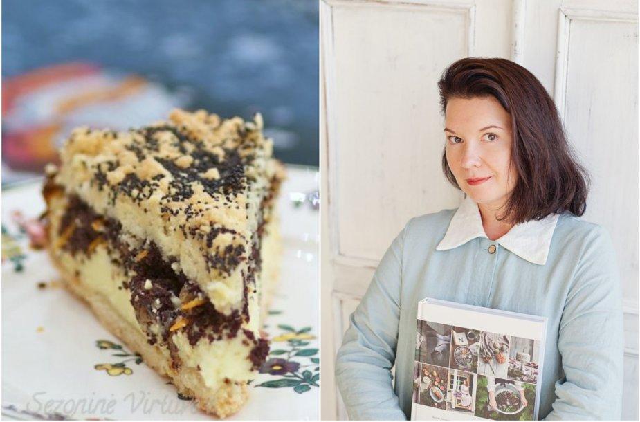 Renata Ničajienė ir jos keptas varškės pyragas su aguonomis