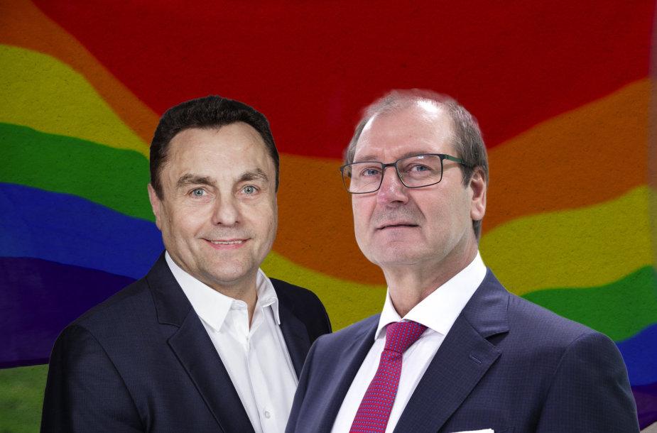 Petras Gražulis ir Viktoras Uspaskichas