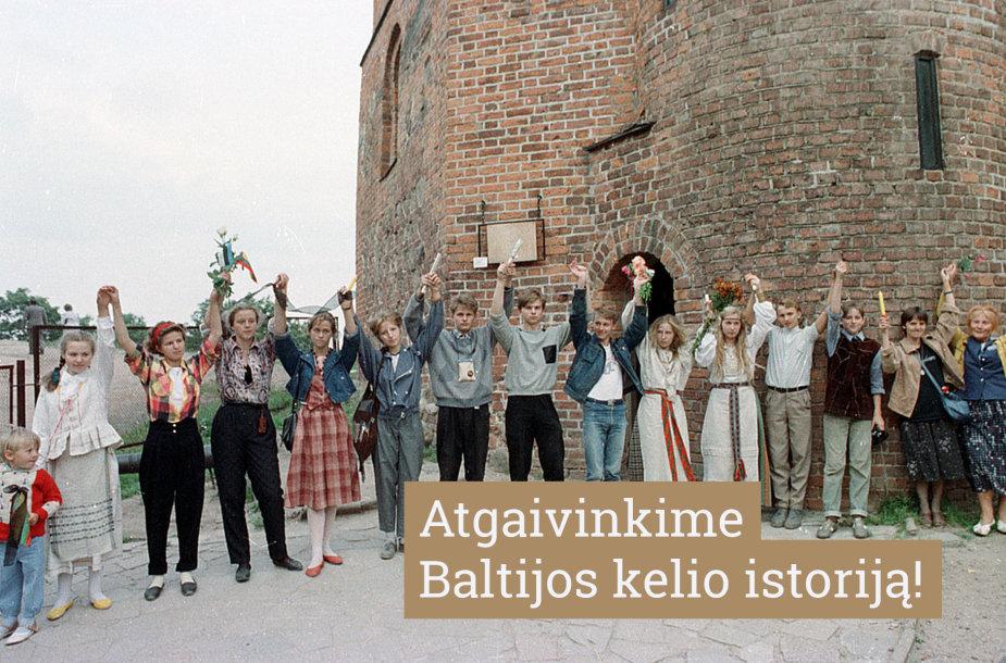 Baltijos kelio pradžia prie Gedimino pilies bokšto