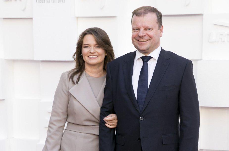 Silvija Skvernelė ir Saulius Skvernelis