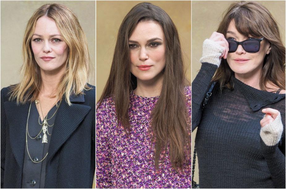 Vanessa Paradis, Keira Knightley, Carla Bruni-Sarkozy