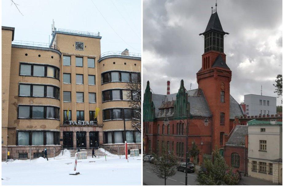 Kauno ir Klaipėdos centrinio pašto pastatai