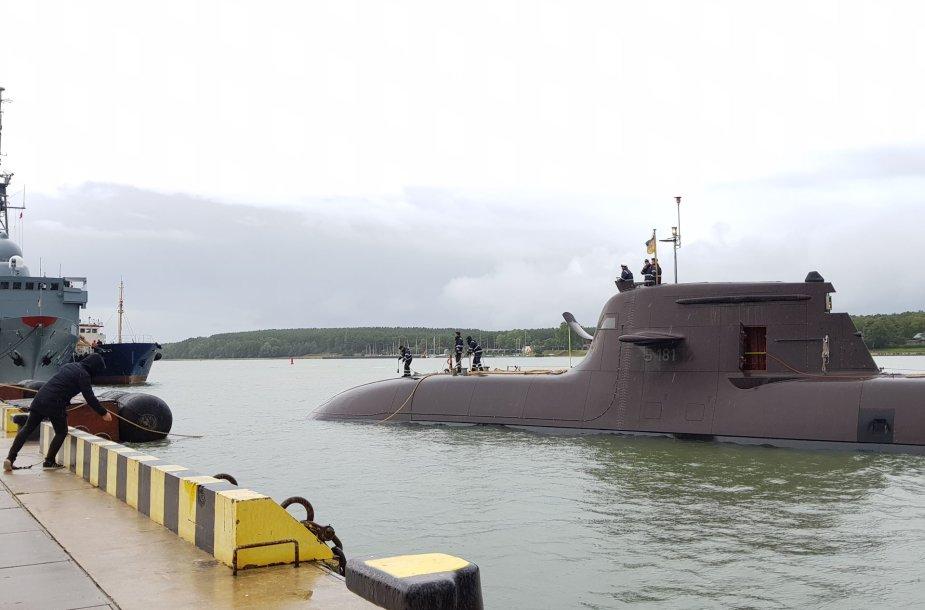 Į Klaipėdą atplaukė povandeninis Vokietijos karo laivas