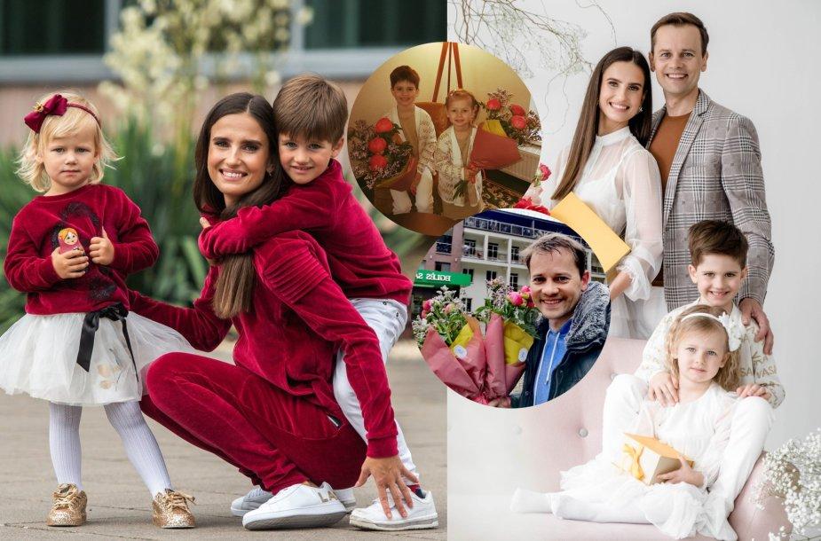 Nerijus ir Agnė Juškos švenčia vestuvių metines ir Motinos dieną